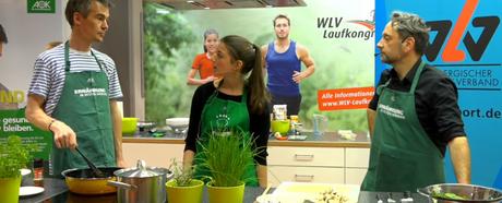 Pasta mit Kichererbsen, Champignons & Walnusstopping beim Friday-Evening-Cooking mit AOK und WLV